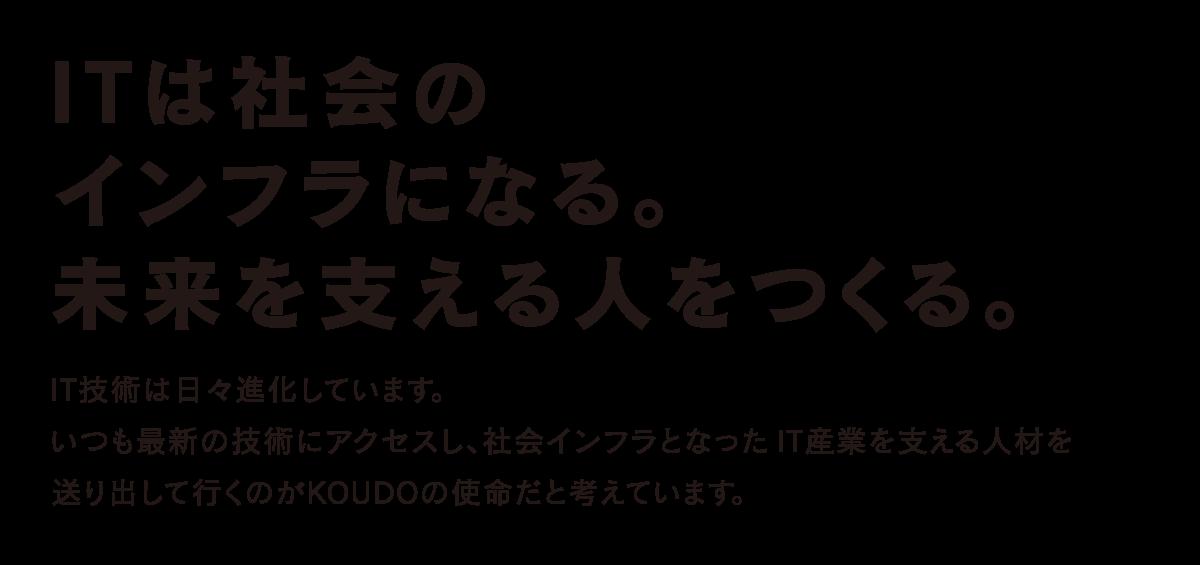 KOUDOで学び明るい未来を実現!